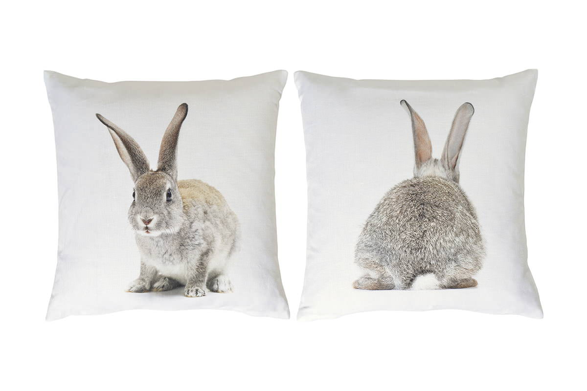 anne 39 s table one rabbit hase kaninchen kissen gef llt 45x45cm exklusive tischw sche. Black Bedroom Furniture Sets. Home Design Ideas